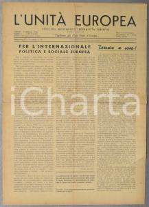 1946 L'UNITA' EUROPEA Per l'Internazionale politica e sociale *Rivista n° 8
