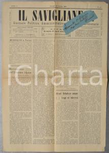 1923 IL SAVIGLIANESE La scuola industriale - Eroismo alpino *Anno I n° 43