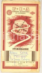 1960 ca ACI - FIA Itinerari in Italia - 12 schede con mappe *FRENCH AGIP