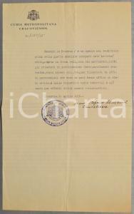 1935 CRACOVIA Curia Metropolitana - Attestati matrimonio *Mons. Stefan MAZANEK
