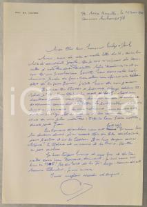 1981 BRUXELLES La seule noblesse est de bien vivre *Lettre prof. Emile LOUSSE