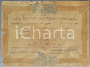 1907 CARBONARA DI PO Ricordo matrimonio Oreste CHIAVELLI - Teresa CASONI