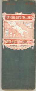 1915 ca TOURING CLUB ITALIANO Carta automobilistica Foglio 2 Centro, Sud e isole