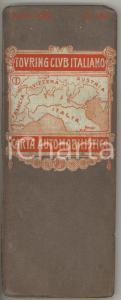 1916 TOURING CLUB ITALIANO Carta automobilistica - Foglio 1 NORD ITALIA