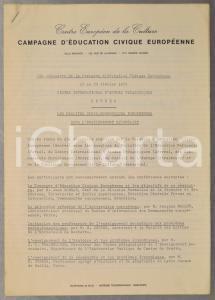 1971 SEVRES Compte rendu du 29e Séminaire Campagne Education Civique Européenne