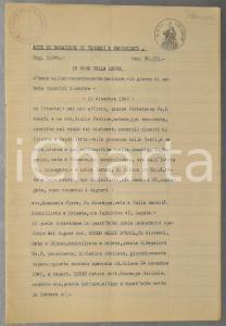 1945 MASSARI MELZI (BG) Donazione terre conte Guido MELZI D'ERIL ai figli