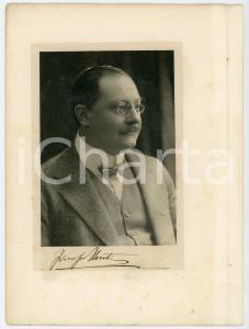 1910 ca MILANO (?) Ritratto del filologo Francesco NOVATI con AUTOGRAFO 18x23