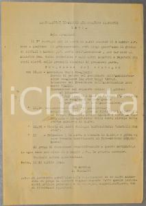 1948 PAVIA Ex alunni COLLEGIO GHISLIERI Programma convegno FESTA DI SAN PIO