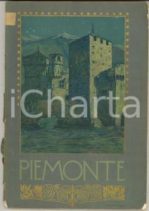1920 ca PIEMONTE Guida regionale ILLUSTRATA Ferrovie dello Stato TCI 134 pp.