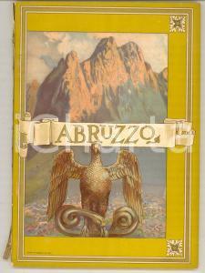 1920 ca ABRUZZO Guida regionale ILLUSTRATA Ferrovie dello Stato TCI 112 pp.