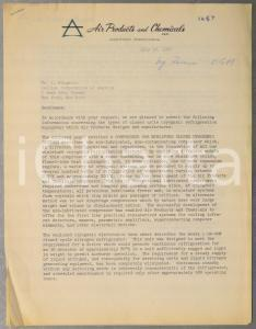 1962 AIR PRODUCTS AND CHEMICALS Compressor for miniature closed systems *Letter