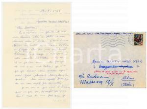 1965 BAGNEUX Tran SY DON rientra da un viaggio in Italia *Lettera autografa
