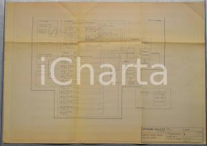 1974 OFFICINE GALILEO FIRENZE Diga CHIOTAS-PIASTRA Centrale di misura *Schema