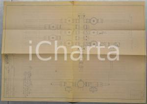 1970 ca OFFICINE GALILEO FIRENZE Impianto di aspirazione *Schema 40x60 cm