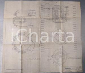1974 OFFICINE GALILEO FIRENZE Compressore mod. T con preraffreddatore *Schema