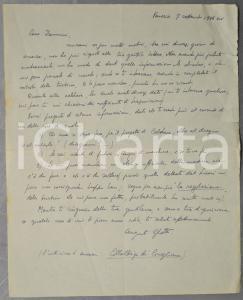 1936 VENEZIA Augusto GHETTI chiede lumi su un progetto di caldaia *AUTOGRAFO