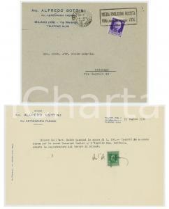 1934 MILANO Avv. Alfredo BOTTINI riceve acconto spese per causa LAVERONI