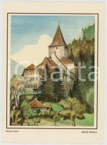 1950 ca SVIZZERA Borghi e castelli dei cantoni *Pieghevole pubblicitario VINTAGE