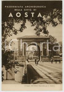 1948 AOSTA Passeggiata archeologica in città *Pieghevole TURISMO VINTAGE