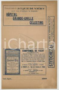 Gennaio 1910 ca Pastiglie VICHY-ETAT- SULPHUROL LANCELLOTTI *Carta sugante