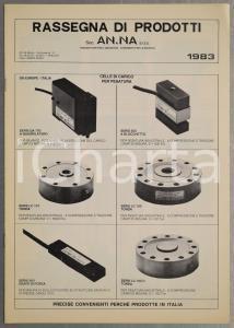 1983 MILANO Società AN.NA trasduttori per l'industria *Pieghevole ILLUSTRATO