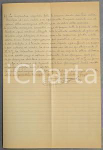 1890 ca TORINO Progetto società mutua LA BENEFICA *Autografo Francesco CAVAGNOLO