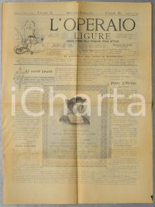 1892 GENOVA L'OPERAIO LIGURE Feste nel IV centenario della scoperta dell'America