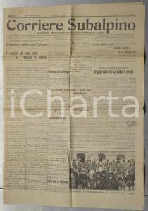 1913 CORRIERE SUBALPINO La guerra turco-balcanica *Giornale anno III n° 41