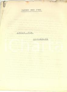 1950 ca Francesco MELZI D'ERIL Andar via. Ritornare *Racconto INEDITO 23 pp.