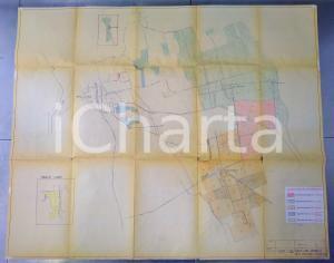 1969 FARA GERA D'ADDA / MASSARI MELZI Planimetria cascine famiglia MELZI 100x70