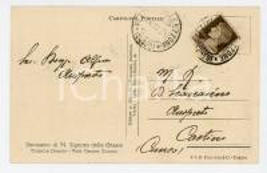 1931 SANTUARIO DEL TODOCCO VALLE UZZONE Cartolina don Alfonso BOASSO Autografo