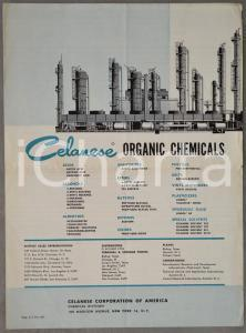 1960 ca CELANESE Corporation of America - Organic chemicals *Brochure 4 pp.