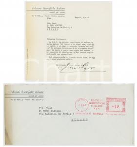 1967 NAPOLI EDIZIONI SCIENTIFICHE ITALIANE Lettera Luciano GRASSO Ufficio Stampa