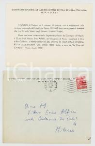 1966 CNADSI PADOVA Invito inaugurazione anno e conferenza Vittorio Enzo ALFIERI