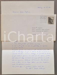 1975 OLDENBURG Wilhelm BUTTEMEYER auspica traduzione di un suo libro *Autografo