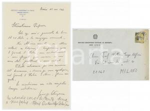 1980 ASSISI Istituto Magistrale BONGHI Lettera del preside Giuseppe CATANZARO