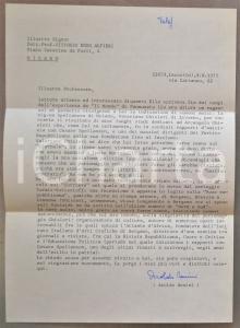 1975 MILANO Aroldo BENINI chiede la promozione di un suo libro *AUTOGRAFO