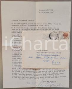 1975 LIVORNO Valeriano GHISLERI promuove libro sul padre Arcangelo *AUTOGRAFO