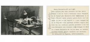 1990 SANTA MARINELLA (MA) Sen. Giovanni ARTIERI chiede recensione *AUTOGRAFO