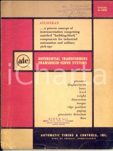 1961 AUTOMATIC TIMING & CONTROLS Differential transformers transudcer *Catalog