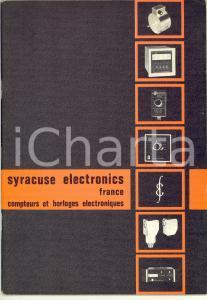 1970 ca SYRACUSE ELECTRONICS FRANCE Compteurs horloges electroniques *Catalogue