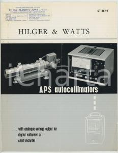 1964 HILGER & WATTS Catalog APS autocollimators *ILLUSTRATED VINTAGE