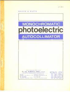 1968 HILGER & WATTS Monochromatic photoelectric autocollimator *Catalog 178/2