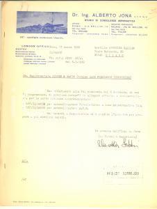 1969 ROMA Ing. Alberto JONA Consulenza aeronautica - Preventivo autocollimatore