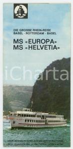 1961 MS EUROPA / MS HELVETIA Die grosse Rhein-Reise *VINTAGE brochure