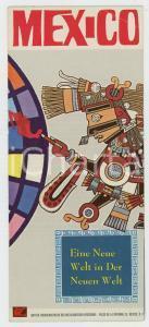 1960 ca MEXICO Eine neue Welt in der neuen Welt *Dépliant  VINTAGE Deutsch
