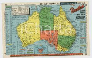 1956 OLYMPIC GAMES AUSTRALIA Mappa su cartoncino pubblicitario 20x12 cm