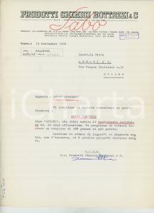 1964 BERGAMO Prodotti chimici BOTTAZZI & C. Lettera per fornitura amido
