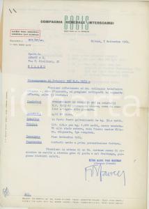1964 MILANO COGIS Compagnia Generale Interscambi - Preventivo permanganato