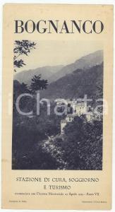 1930 ca BOGNANCO Stazione di cura e soggiorno *Opuscolo ILLUSTRATO TURISMO